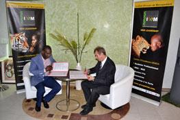 Signature du partenariat avec l'IAM Sénégal 2012