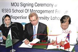 Signature de partenariat au Pakistan 2012