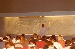 Salle de cours en 1986