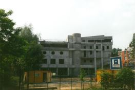 Construction du bâtiment A 1990